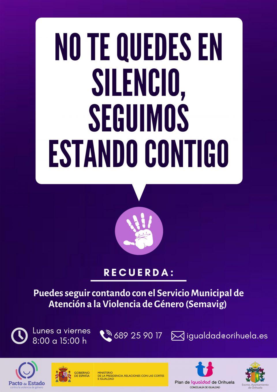 Apoyo en Orihuela a las víctimas de violencia de género durante el confinamiento 6