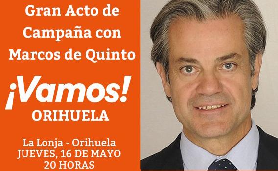 Marcos de Quinto respaldará a José Aix en el gran acto de campaña de C,s Orihuela 6