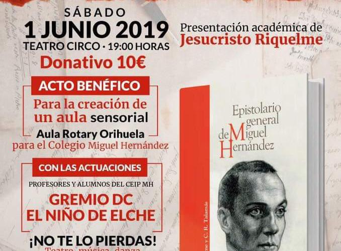 Acto benéfico para crear un aula sensorial en el CP Miguel Hernández 6