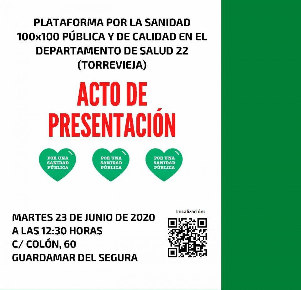 Nace en Guardamar una plataforma por la sanidad pública del departamento de Torrevieja 6