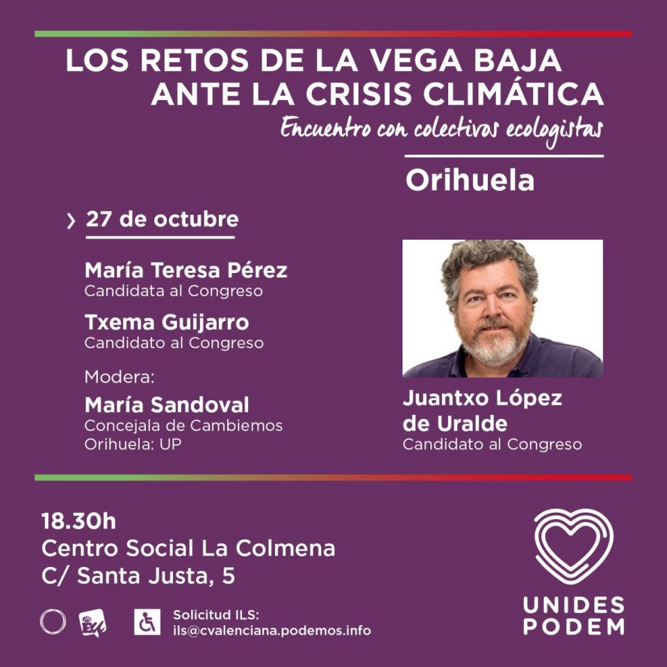 Encuentro este domingo con Juantxo López Uralde en Orihuela 6