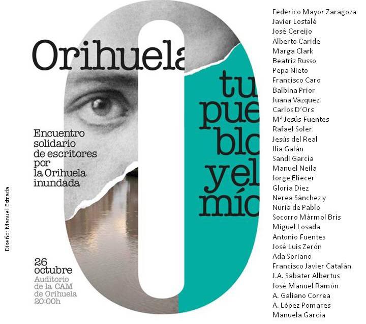 Un encuentro poético solidario en Orihuela recaudará fondos para afectados por la DANA 6