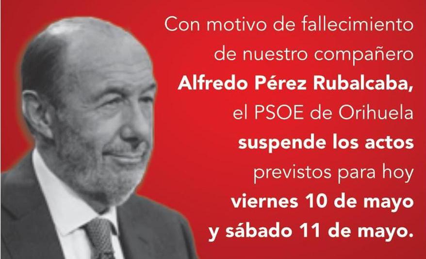 El PSOE de Orihuela suspende sus actos de campaña 6