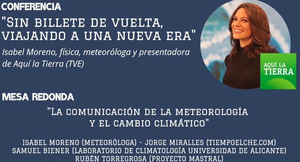 La presentadora Isabel Moreno ofrecerá una conferencia sobre meteorología en Torrevieja 6
