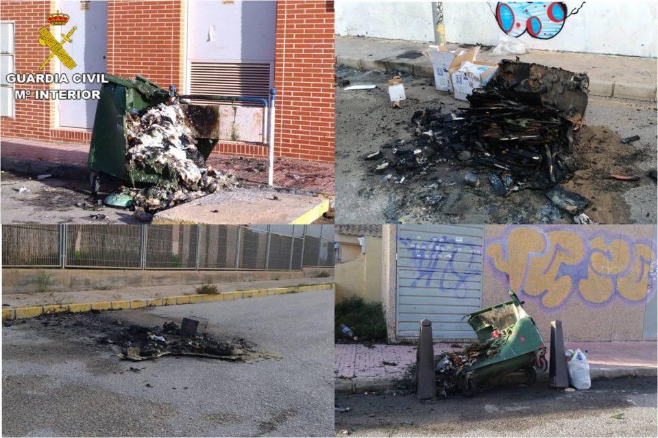 Cuatro menores de Torrevieja detenidos por quemar contenedores en Halloween 6