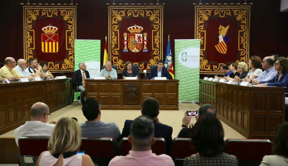 Carlos Mazón preside en Almoradí la sesión constitutiva de CONVEGA 6