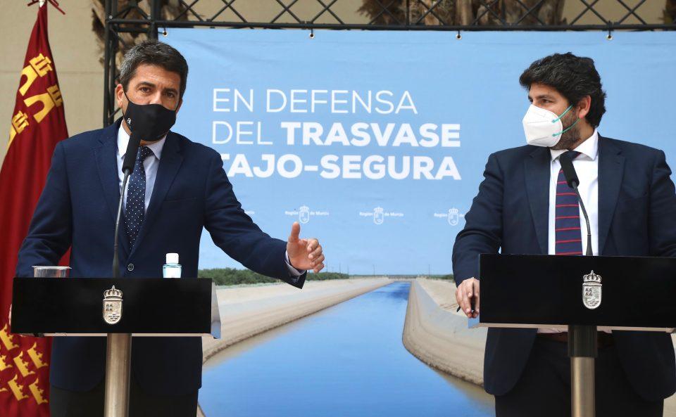 Mazón se alía con Murcia y Almería en defensa del Trasvase 6