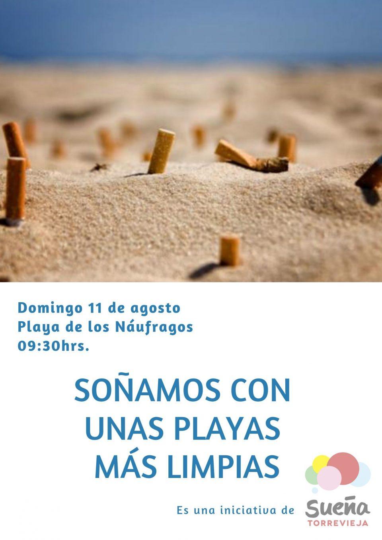 Quedada para recoger colillas y plásticos en la playa de Los Náufragos 6