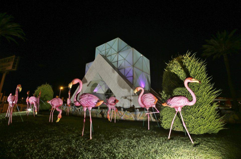 Torrevieja instala 28 flamencos en una de sus rotondas 6