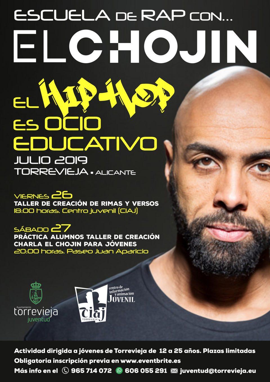 """""""El Chojin"""" impartirá una """"Escuela de Rap"""" gratuita en Torrevieja 6"""
