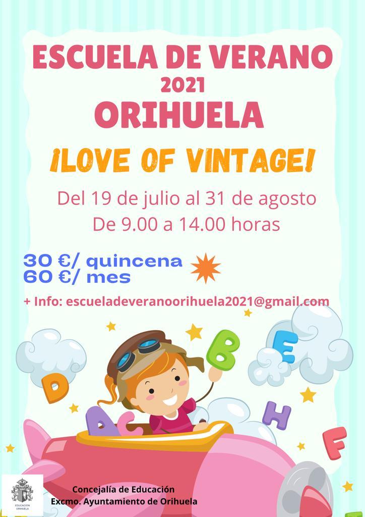 Abierto el plazo de inscripción para la Escuela de Verano 2021 en Orihuela 6