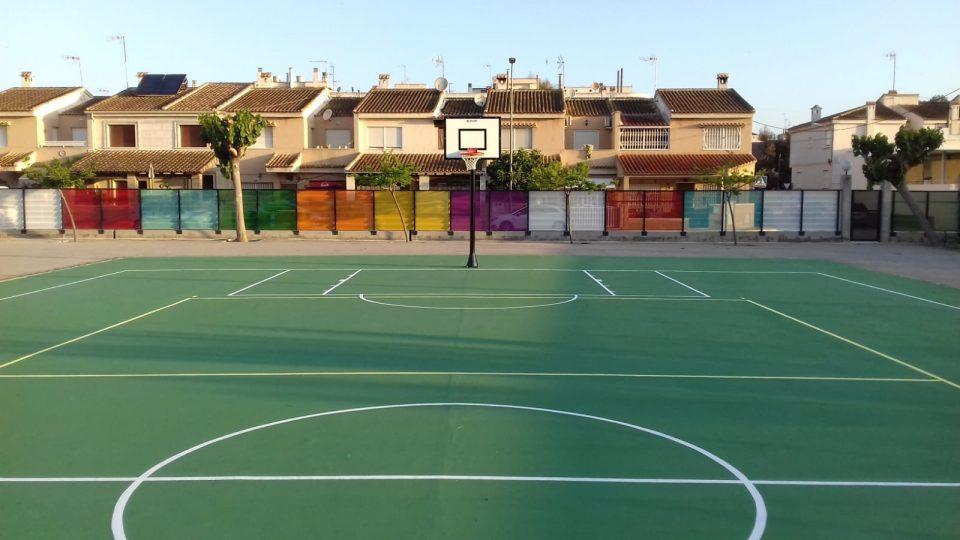 Culmina la renovación de las pistas deportivas del Colegio de Rafal 6