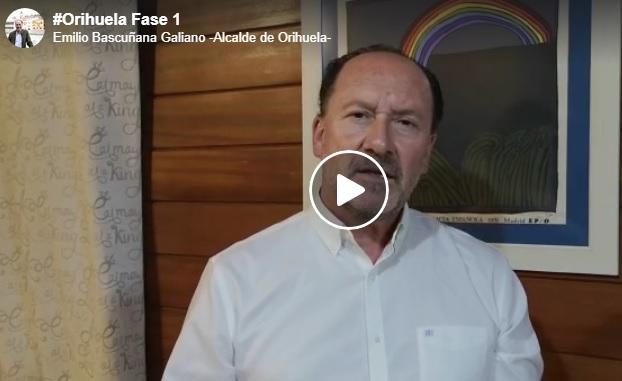 El alcalde de Orihuela hace un llamamiento para la fase 1 de desescalada 6