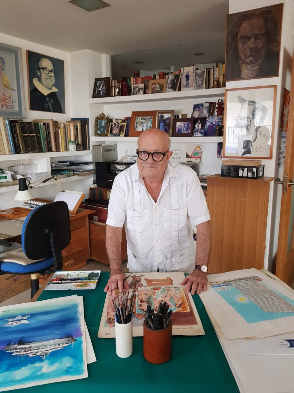 """El Sorzano de Tejada acoge la exposición """"Por un humor al arte"""" del pintor oriolano Alfonso Ortuño 6"""