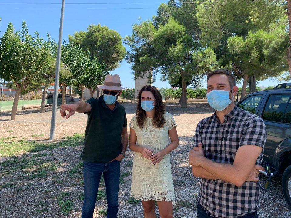 Aitana Mas visita las obras de Daya Vieja con las que reparan los daños de la DANA 6