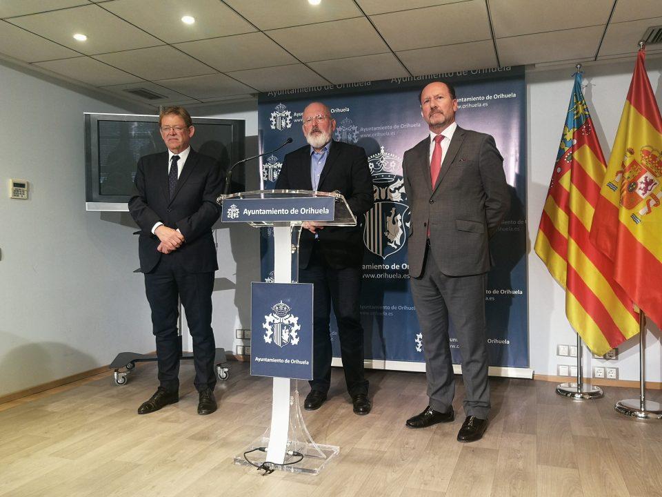 Frans Timmermans quiere darle voz a la Vega Baja en la Unión Europea 6