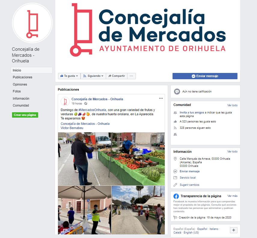 La Concejalía de Mercados de Orihuela pone en marcha una página en Facebook 6
