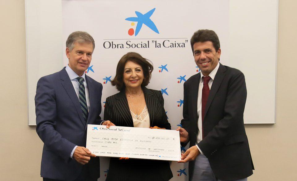 Diputación y Cruz Roja coordinarán la apotación de 100.000 € de CaixaBank para los afectados por la gota fría 6