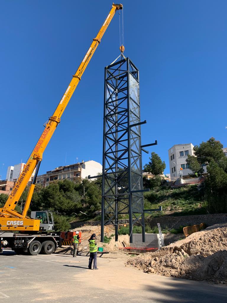 El ascensor que unirá el centro con un parking municipal será una realidad en marzo 6