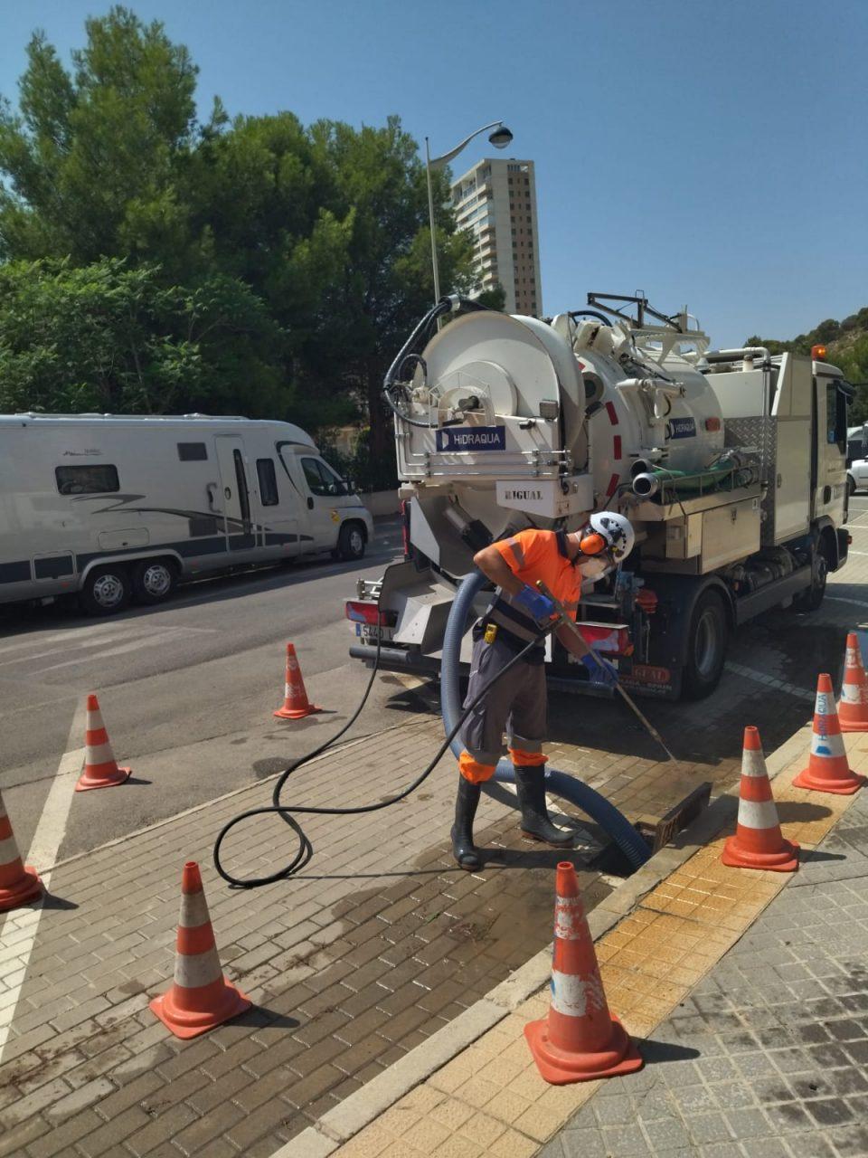 Hidraqua intensifica los trabajos en la red ante las lluvias otoñales 6