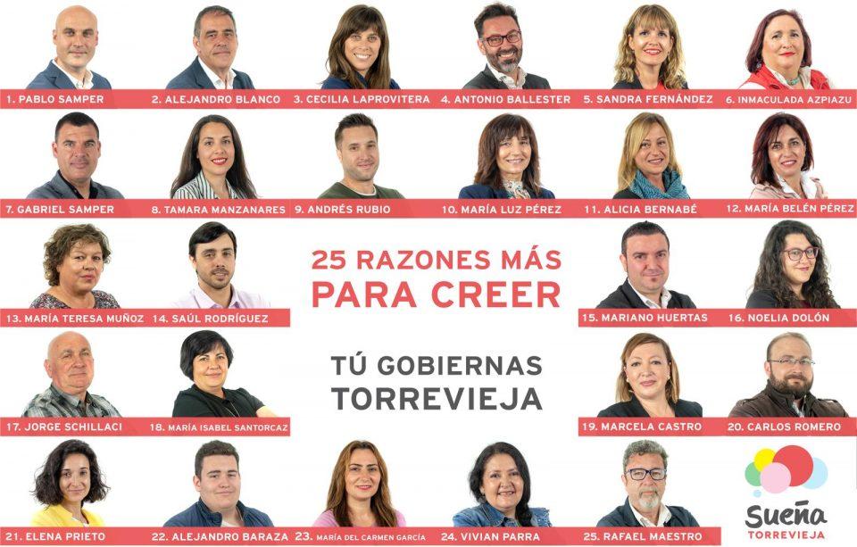 Sueña Torrevieja presenta al completo su lista electoral 6