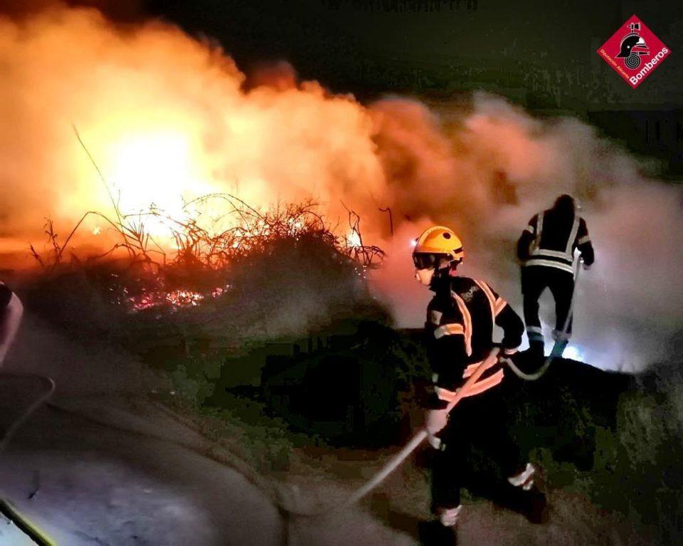 Un incendio en Guardamar del Segura calcina 20 metros cuadrados de vegetación 6