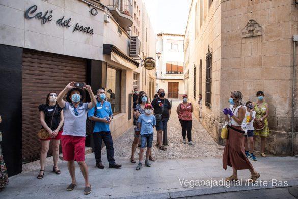 Espectadores con mascarillas para contemplar el misterio de la lechuza en Orihuela 16