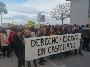 Unas 12.000 personas se manifiestan en Orihuela contra el Plurilingüismo 7