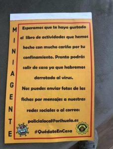 Todo lo que necesitan los niños y niñas de Orihuela para ser 'miniagentes' 7
