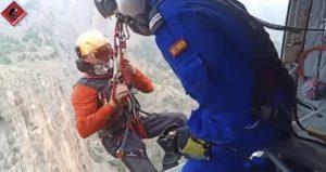Rescatados dos escaladores tras sufrir un accidente en el Rincón de Bonanza 7