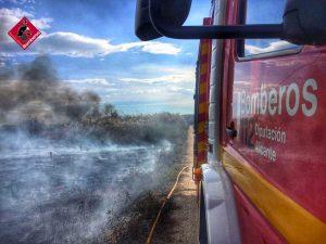 Los bomberos extinguen un incendio en la huerta de Rojales 7