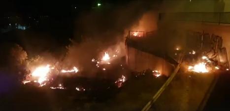 Susto en Guardamar por un incendio cerca de los cuartelillos y kábilas 6