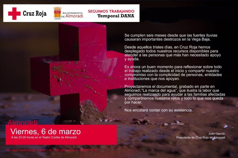 """Cruz Roja Almoradí presentará el documental """"La Marca del Agua"""" 6"""
