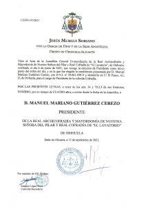 """Manuel Mariano Gutiérrez, reelegido presidente de """"El Lavatorio"""" de Orihuela 7"""