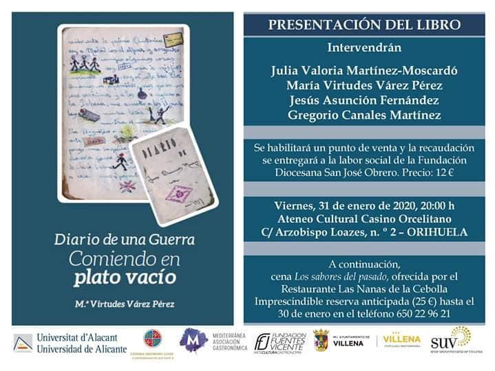 """El Casino acoge la presentación del libro """"Diario de una guerra: comiendo en plato vacío"""" 6"""