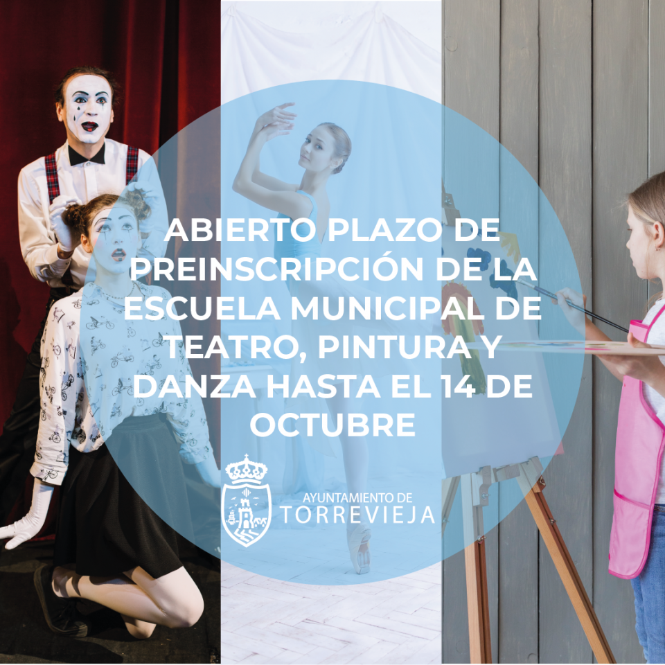 Abierto plazo de inscripción para las Escuelas Municipales de pintura, teatro y danza de Torrevieja 6