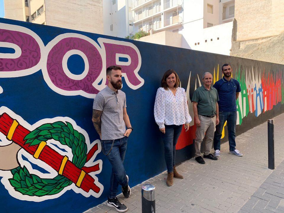 Mural artístico de hasta 25 metros de longitud con motivos de la Semana Santa en Orihuela 6