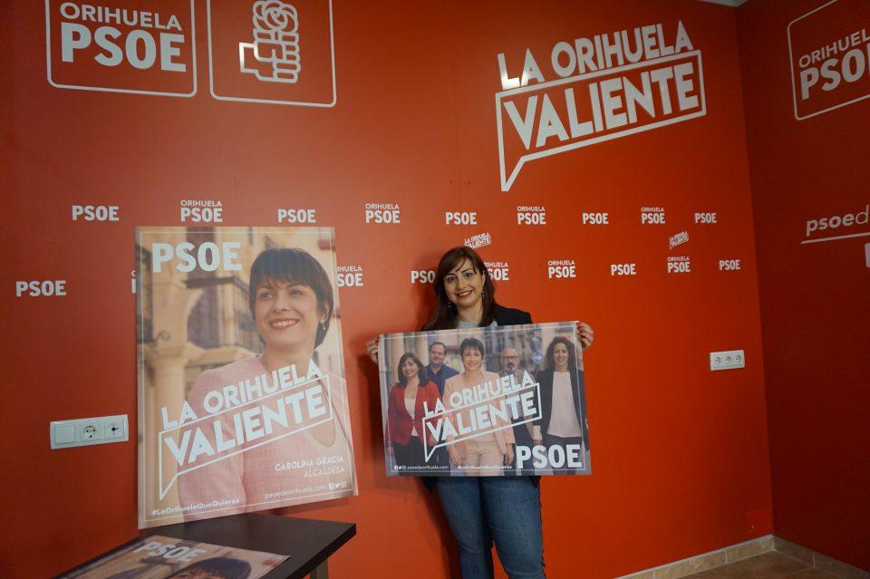 """El PSOE presenta su imagen y eslogan de campaña """"La Orihuela Valiente"""" 6"""