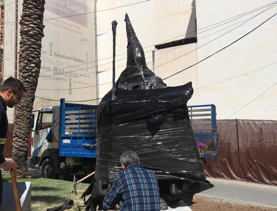 La escultura del Nazareno ya está en Orihuela 6