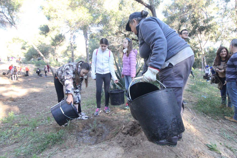 Más de 500 escolares repueblan las dunas de Guardamar 6