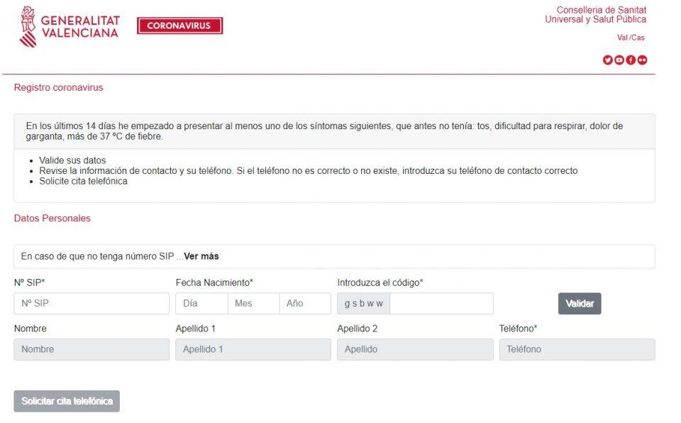 Sanidad lanza en su web la solicitud de cita si tiene síntomas de coronavirus 6