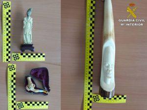 La Guardia Civil interviene varias piezas de marfil comercializadas de forma ilícita en la Vega Baja 7