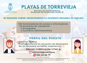 El Ayuntamiento de Torrevieja contratará a 152 personas para controlar las playas 7
