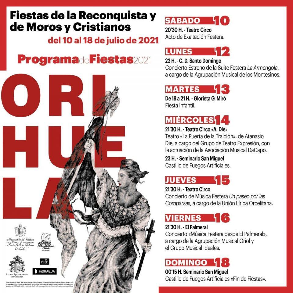 Presentado el Programa de Fiestas de la Reconquista y de Moros y Cristianos de Orihuela 6