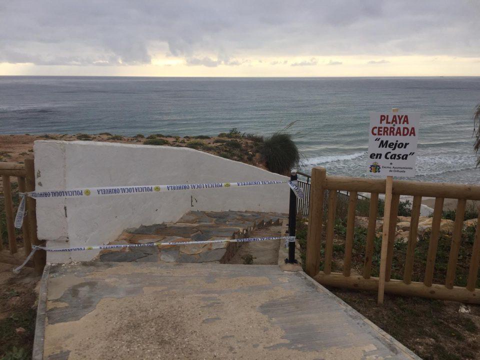 El Ayuntamiento de Orihuela mantendrá las playas cerradas 6