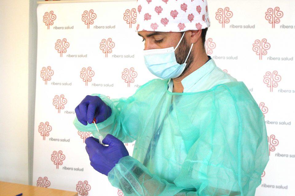 Ribera valida nuevos test de saliva rápidos para la detección del Covid19 6