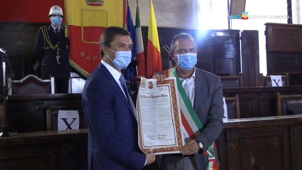 El cojense José Vicente Quirante Rives nombrado Ciudadano Honorario de Nápoles 6