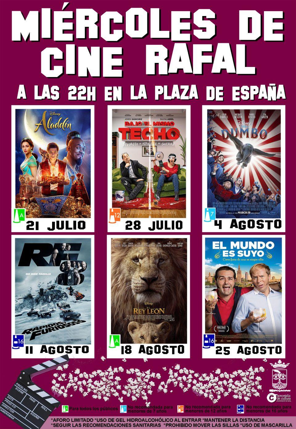 Clásicos infantiles, humor español y acción en los 'Miércoles de Cine' de Rafal 6