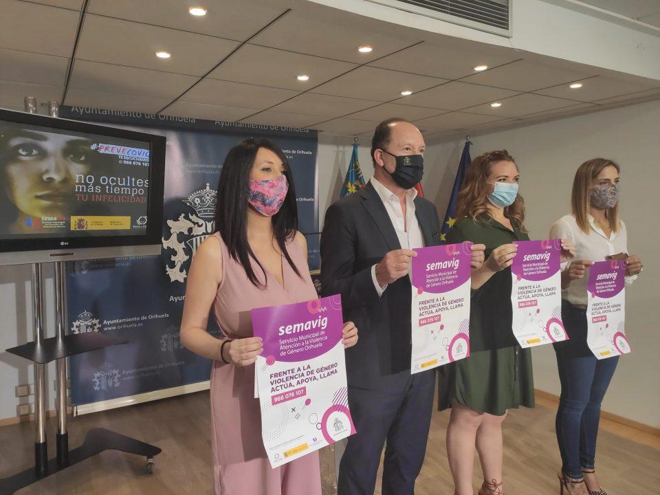El Ayuntamiento de Orihuela lanza la campaña #PREVECOVIG para erradicar la violencia de género 6