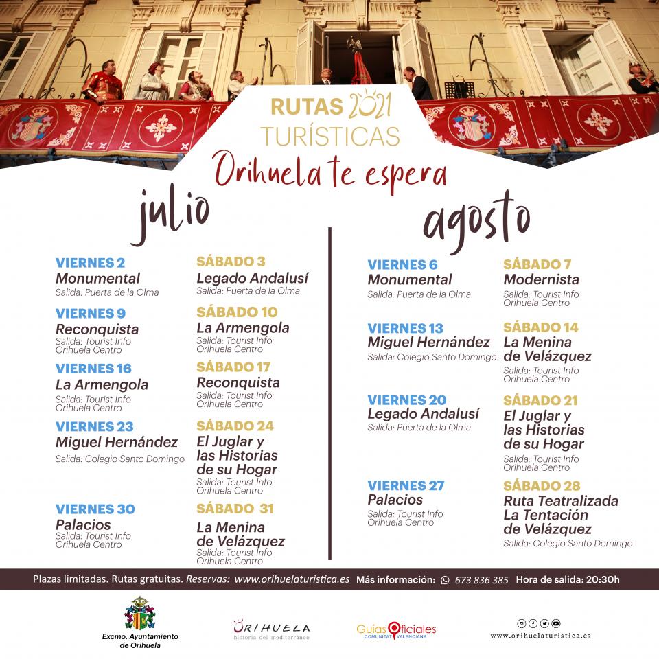 Rutas para vivir la Fiesta de la Reconquista y de Moros y Cristianos de Orihuela en julio y agosto 6